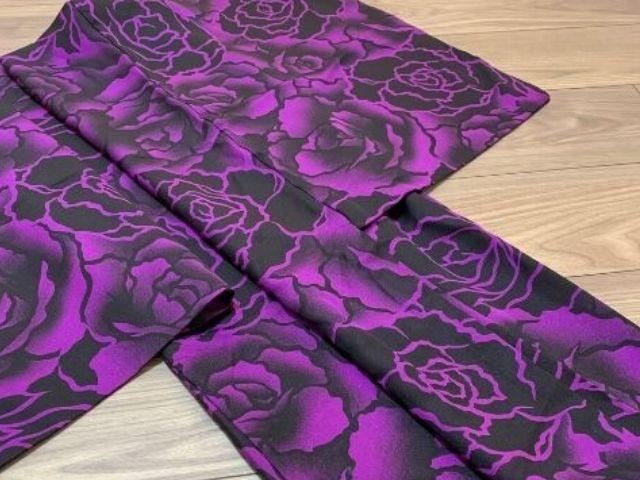 着物に使われる柄の種類【薔薇柄の羽織】