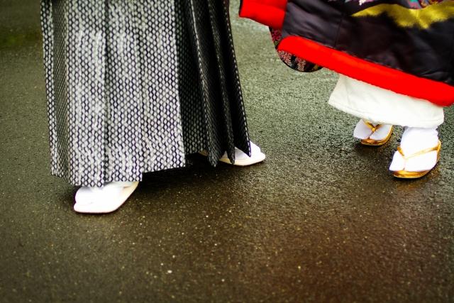 着物における男女の違い【着方が違う】