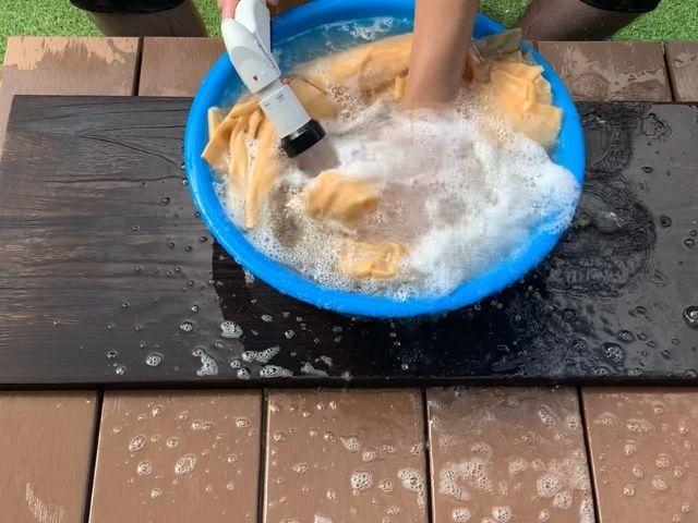 水洗いする②