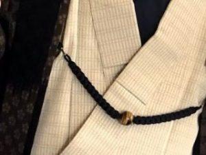 紐と天然石の羽織紐